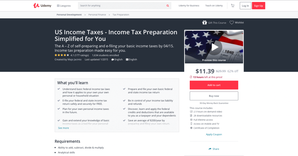 U.S Income Taxes Income Preparation Simplified for You