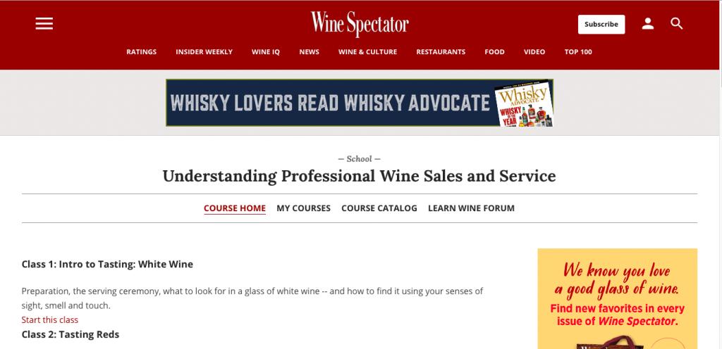 Understanding Professional Wine Sales and Service  by Wine Spectator School