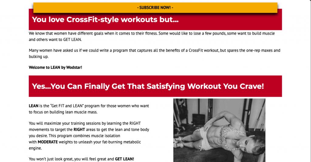 WODstar Website