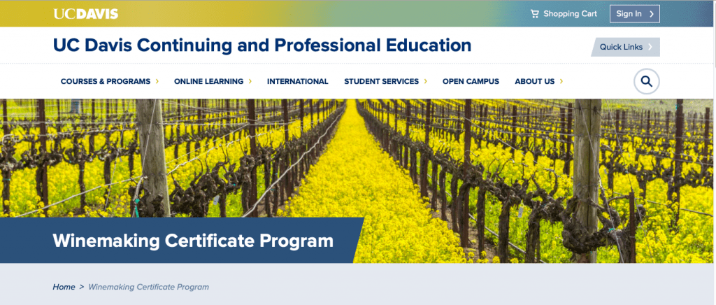 Winemaking Certification Program by The University of California Davis Campus