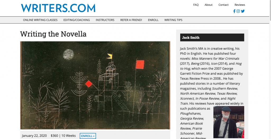 Writing the Novella Page Link