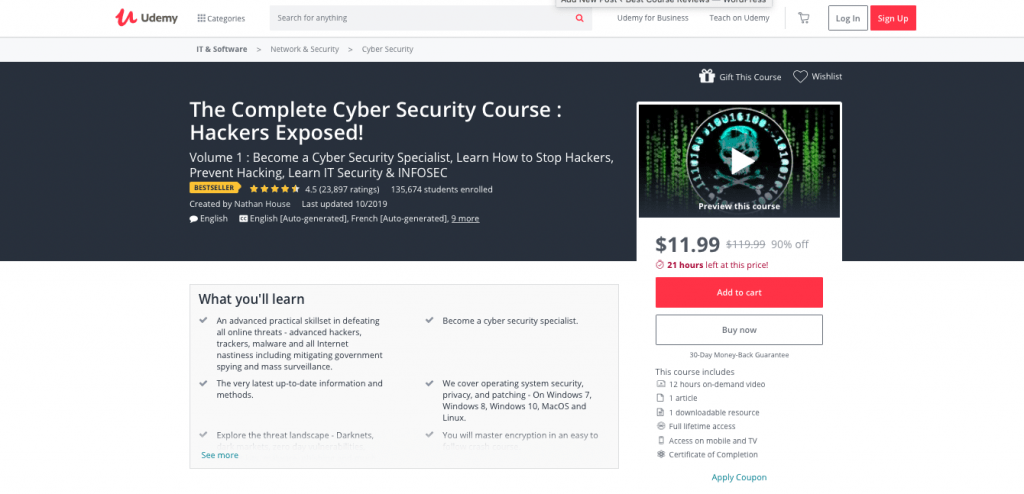 Complete Cyber Security Course via Udemy- VOL 1