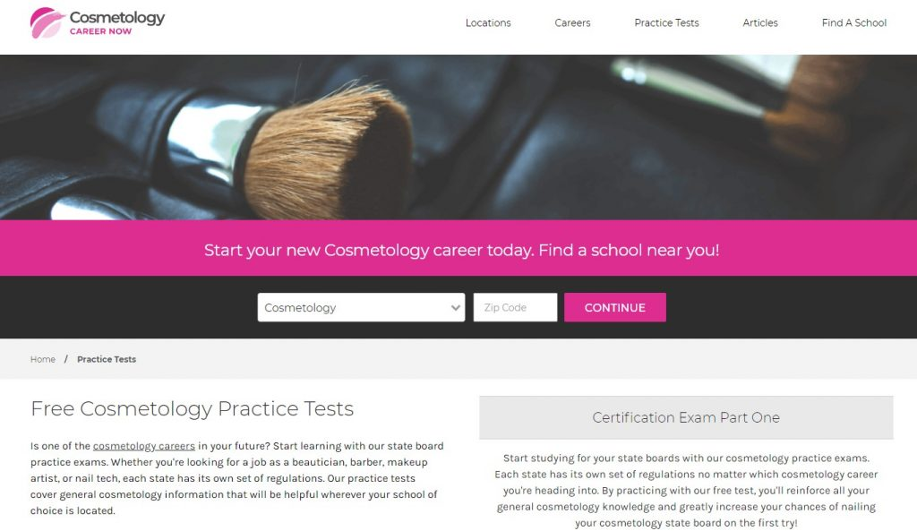 Cosmetology Practice Tests