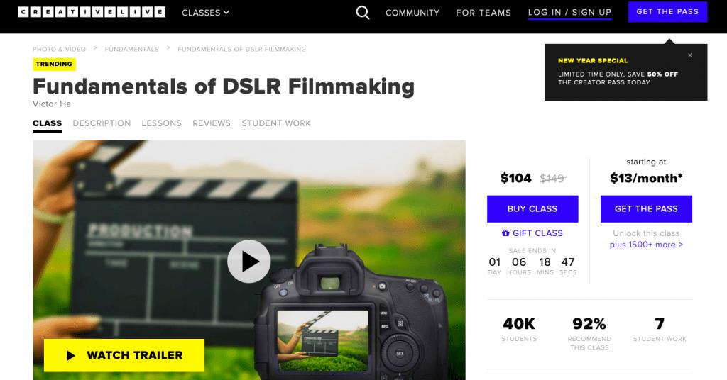 Creativelive Brings DSLR Filmmaking