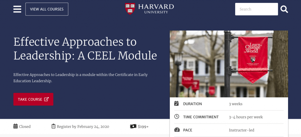 Effective Approaches to Leadership A CEEL Module — Harvard University