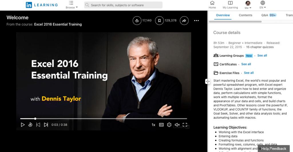 Excel 2016 Essential Training