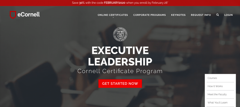 Executive Leadership Certificate Program — Cornell University