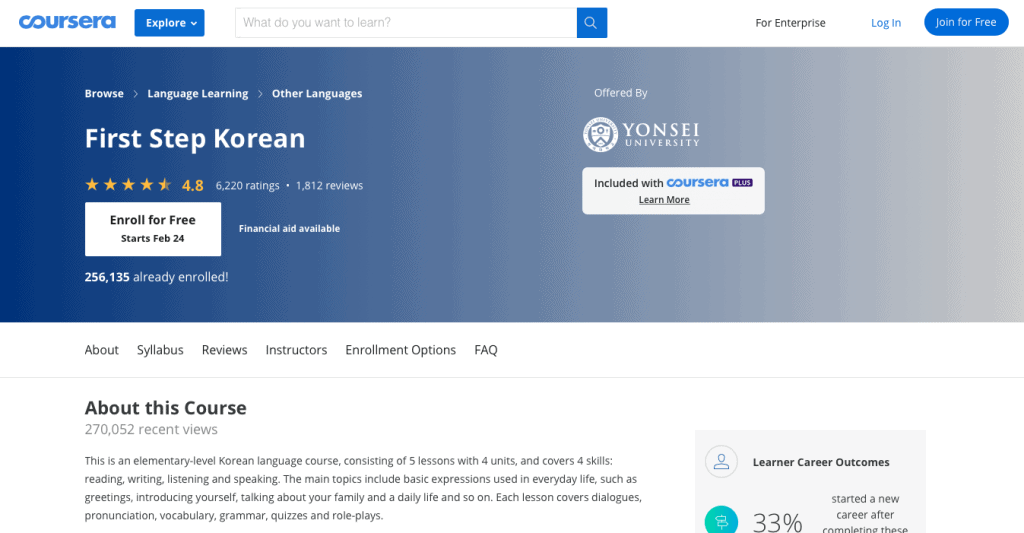 First Step Korean Coursera