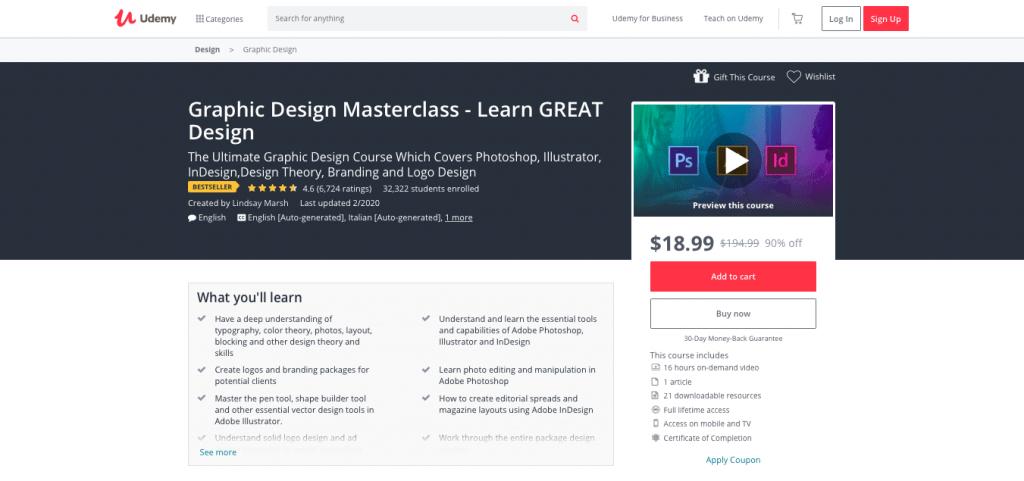 Graphic Design Masterclass — Learn GREAT Design
