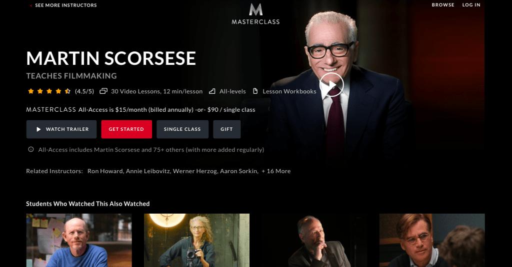 Masterclass with Martin Scorsese