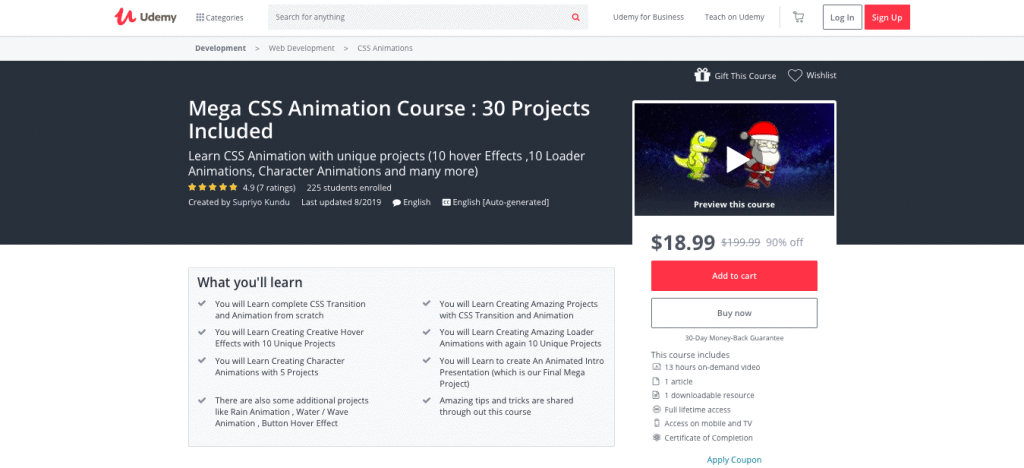 Mega CSS Animation Course