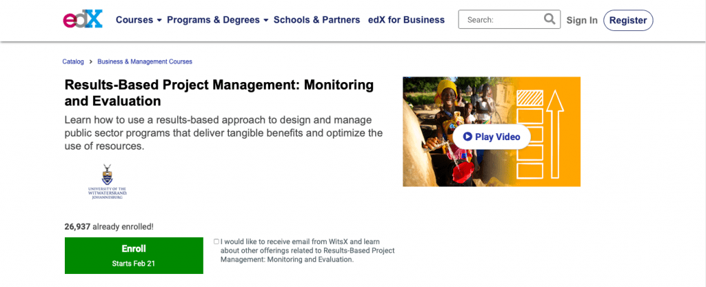 Results-Based Project Management Monitoring and Evaluation