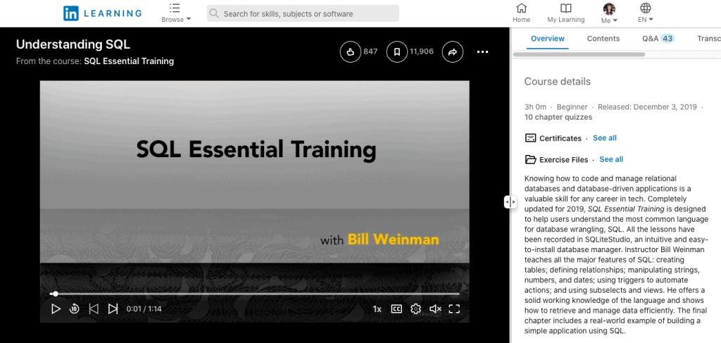 SQL Essential Training (LinkedIn Learning – Lynda)