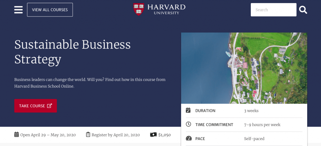Sustainable Business Strategy — Harvard University