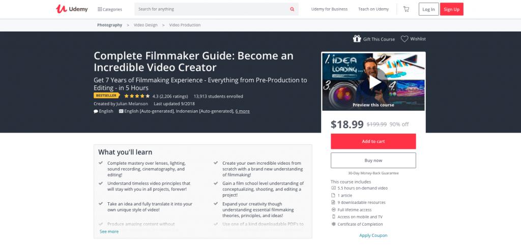 Udemy's Complete Filmmaking Guide