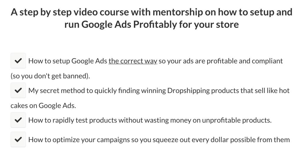 Tristan Broughton Google Ads Ecom Academy Steps