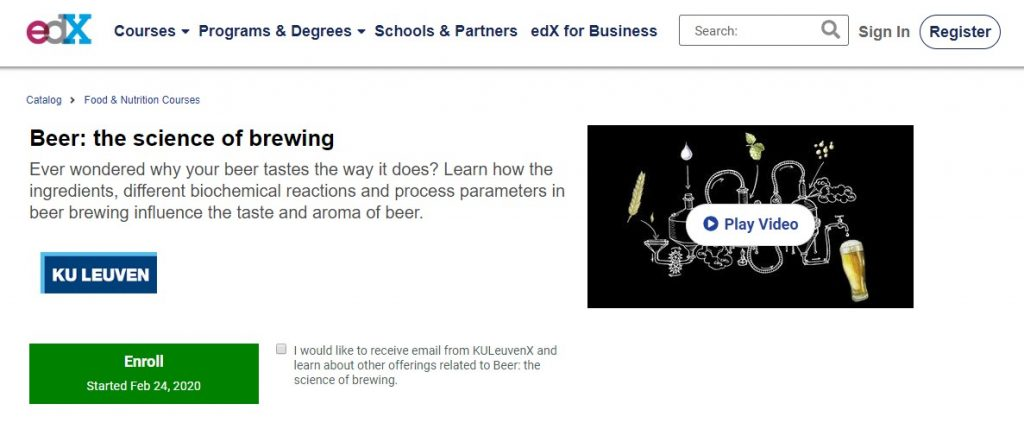 edX - The Science of Brewing