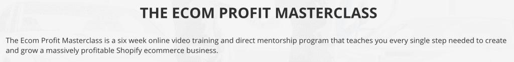 Ecom Profit Masterclass Sales Copy