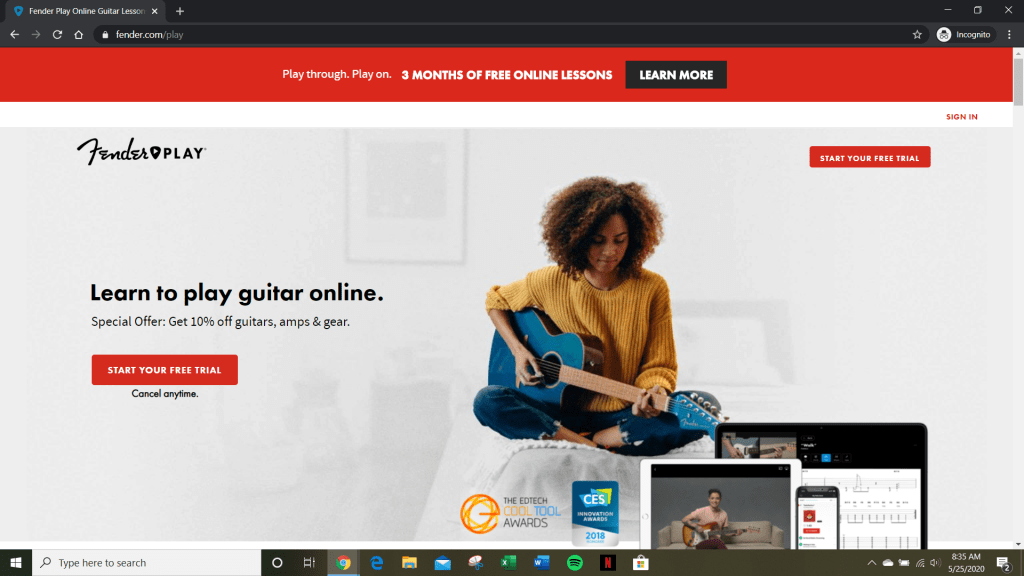 Guitar Apps - Fender Play