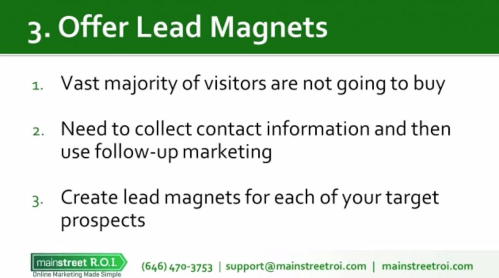 Main Street ROI Lead Magnets