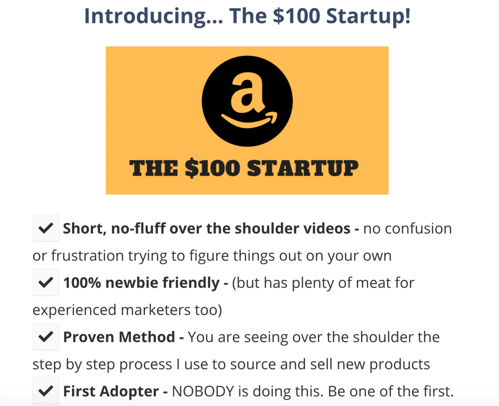 The $100 Startup - FBA