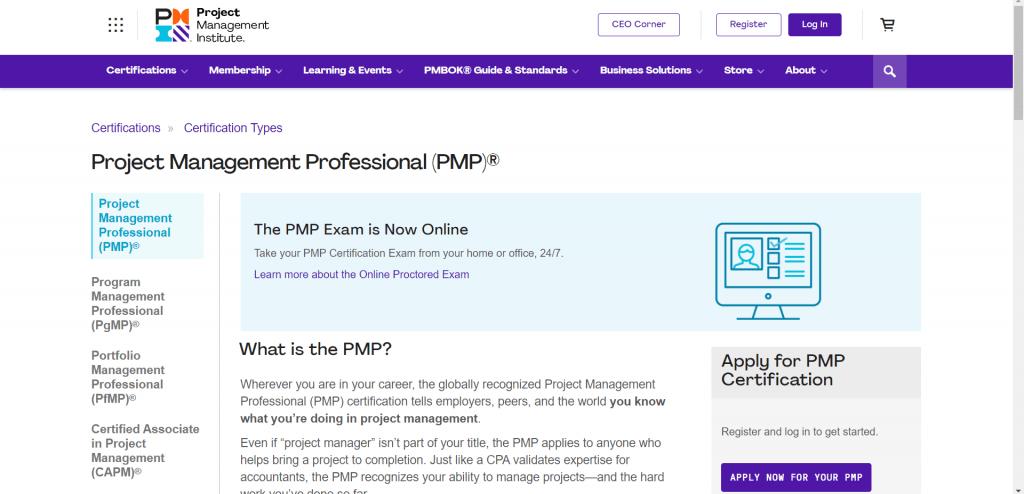 Project Management Certification PMP