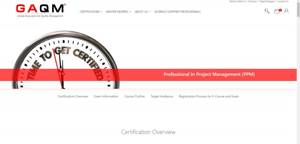 Project Management Certification PPM