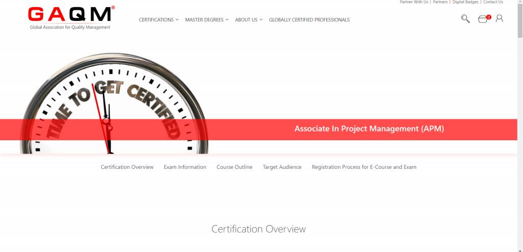Project Management Certification APM