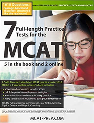 7 Full-length MCAT Practice Tests by The MCAT-prep.com Authors & Editors