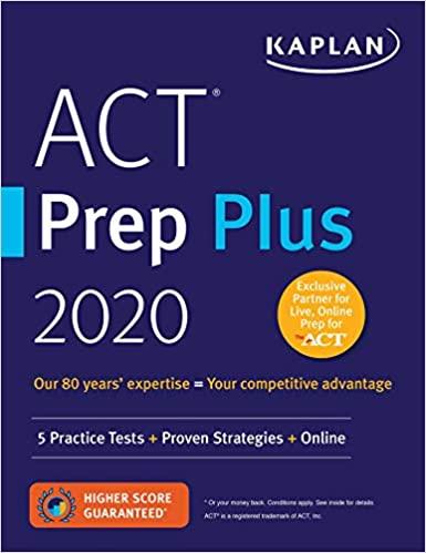 ACT Prep Plus 2020 by Kaplan Test Prep