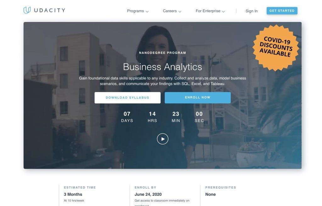Business Analytics by Udacity