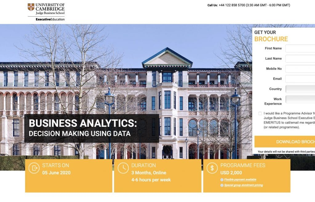 Business Analytics by University of Cambridge