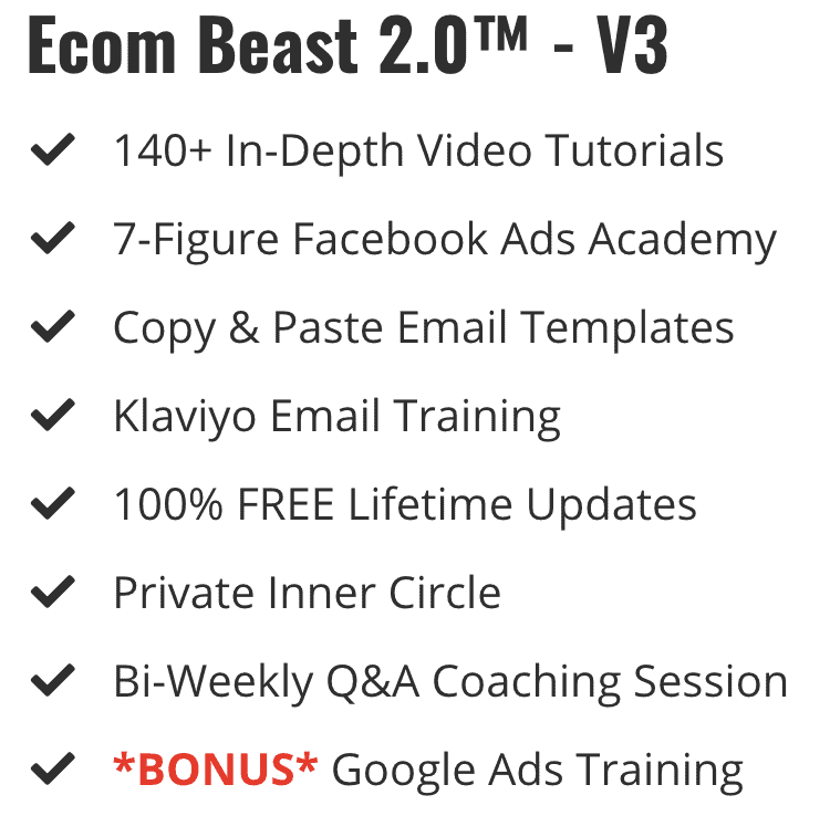 Ecom Beast 2.0 Content
