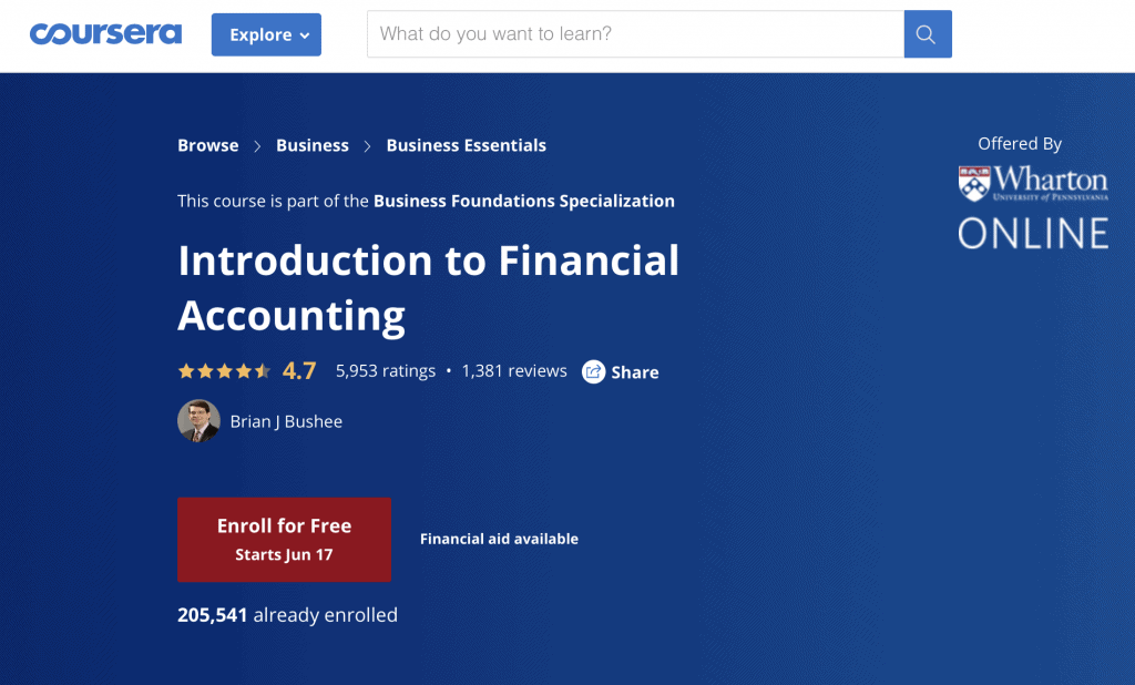 Introduction to Financial Accounting by Wharton