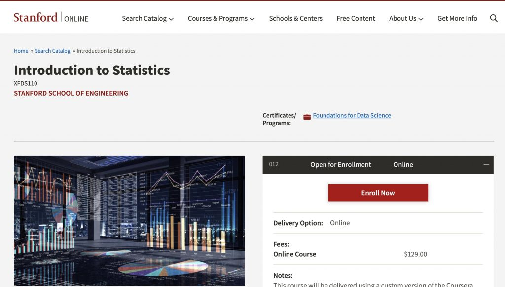 Introduction to Statistics by Stanford School of Engineering