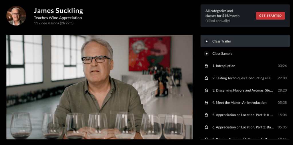 James Suckling Teaches Wine Appreciation
