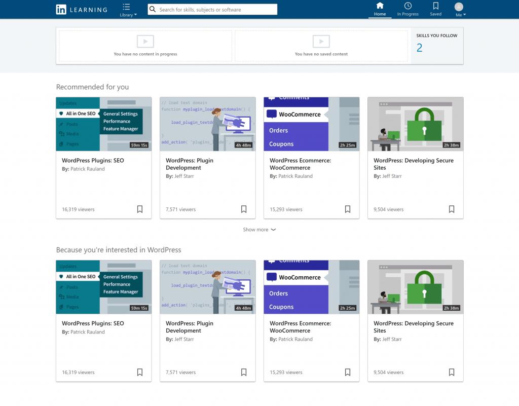 LinkedIn Learning Dashboard
