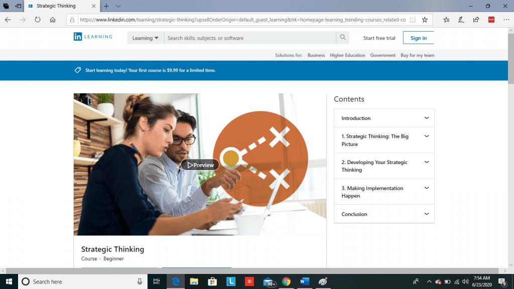 LinkedIn Learning Lesson