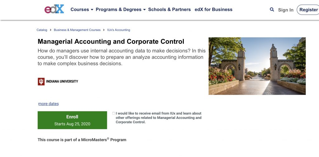 Managerial Accounting and Corporate Control