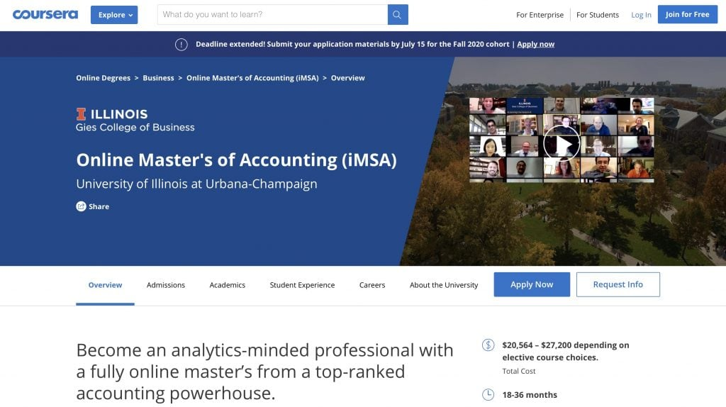 Online Master's of Accounting