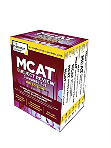 Princeton Review MCAT Subject Review Complete 7 Book Set