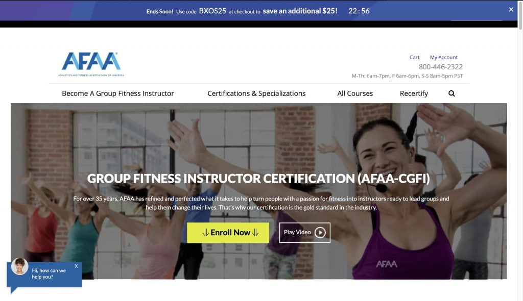 AFAA: Group Fitness Certification
