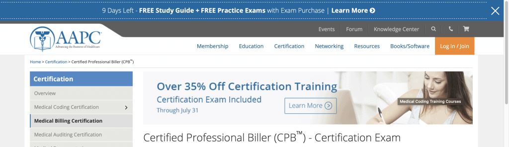 American Academy of Professional Coders—Certified Professional Biller