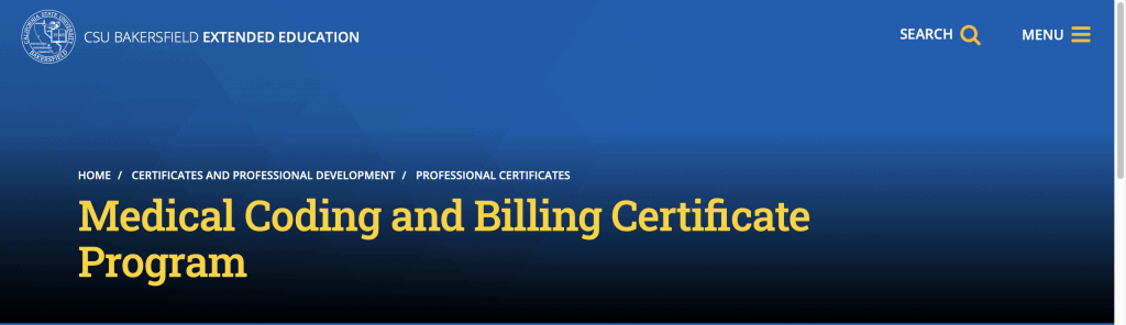 California State University (Bakersfield)—Medical Coding and Billing Certificate
