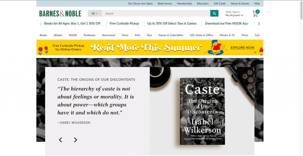 Best Textbook Buyback Site-Barnes & Noble