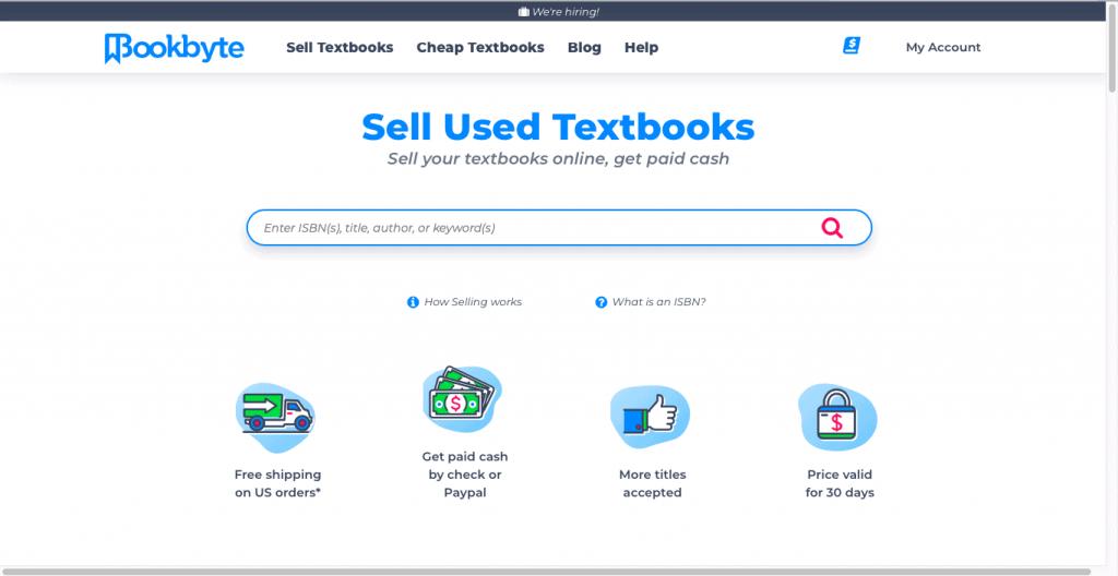 Best Textbook Buyback Site-BookByte