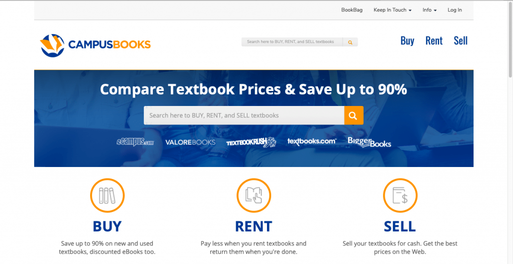 Best Textbook Rental Site-CampusBooks