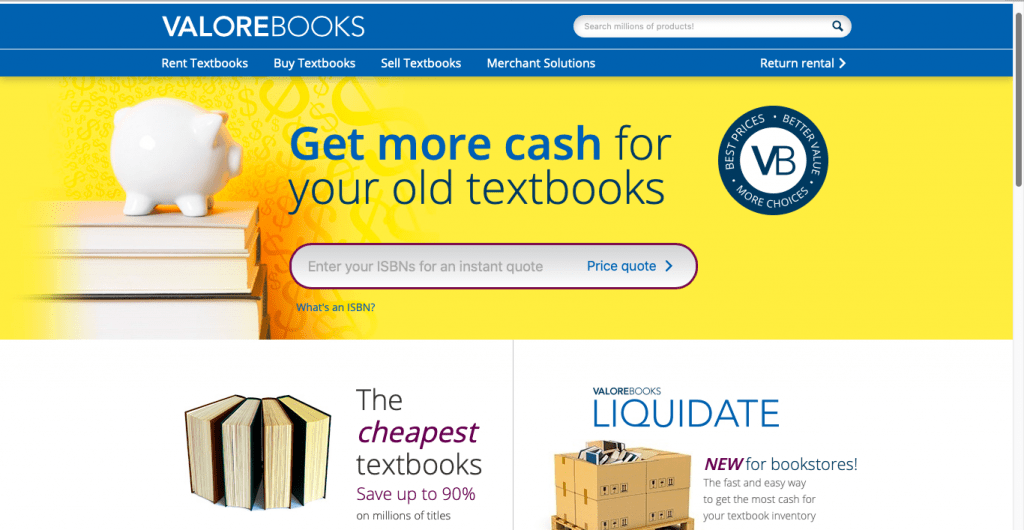 Best Textbook Rental Site-Valore Books