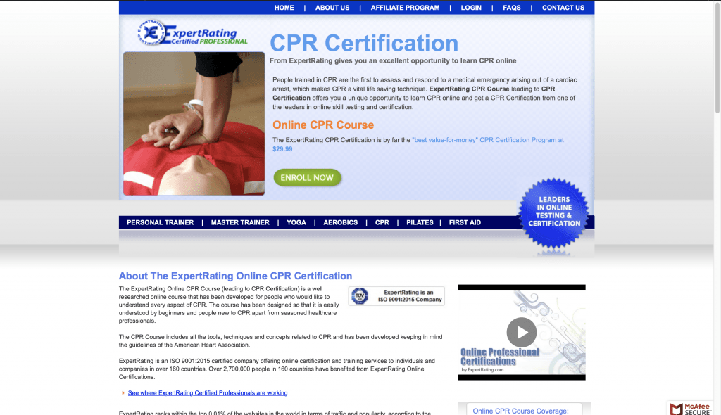 ExpertRating—CPR Certification