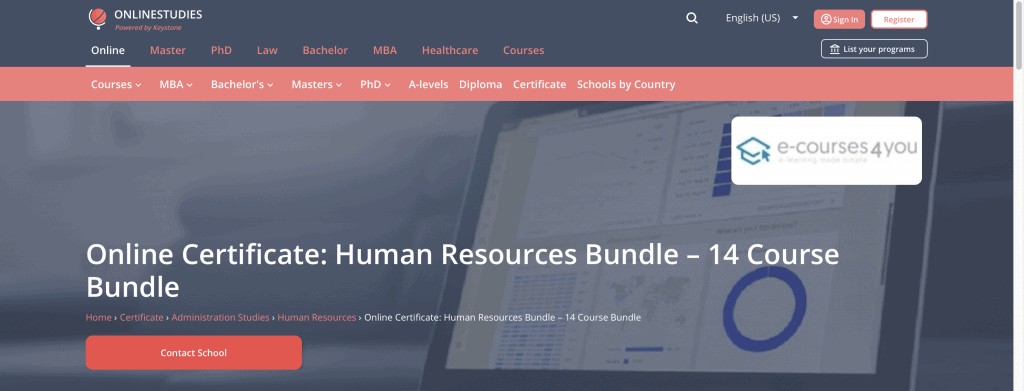 e-courses4you: Online Certificate: Human Resources Bundle